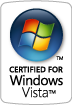 Certified for Windows Vista logo