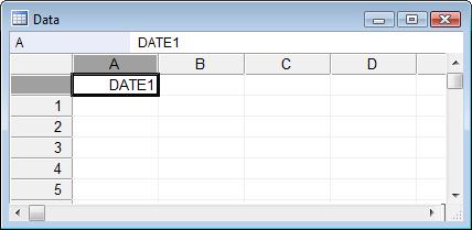 如何输入日期-列标题