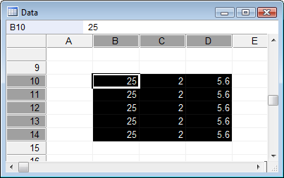 Spreadsheet Fill down function