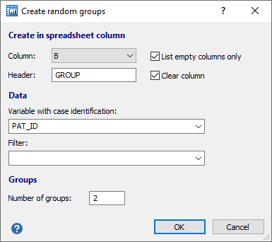 Create random groups