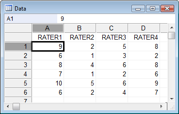 Intraclass correlation coefficient - How to enter data
