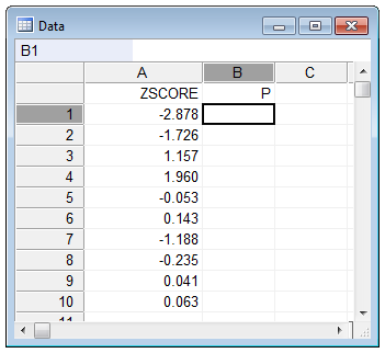 Convert z-scores to percentiles - example step 1