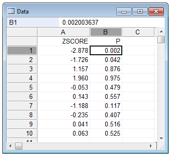 Convert z-scores to percentiles - example step 3
