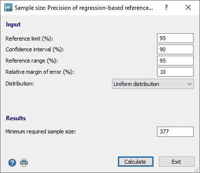 Precision of regression-based reference limits