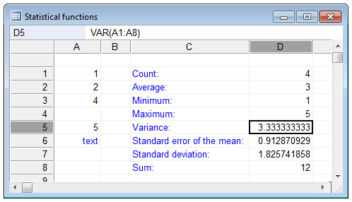 VAR function definition and online calculator