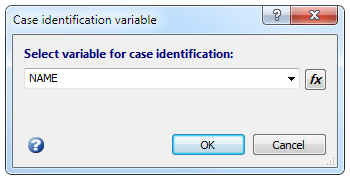 Select variable for case identification